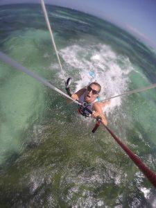 Failing at kitesurfing