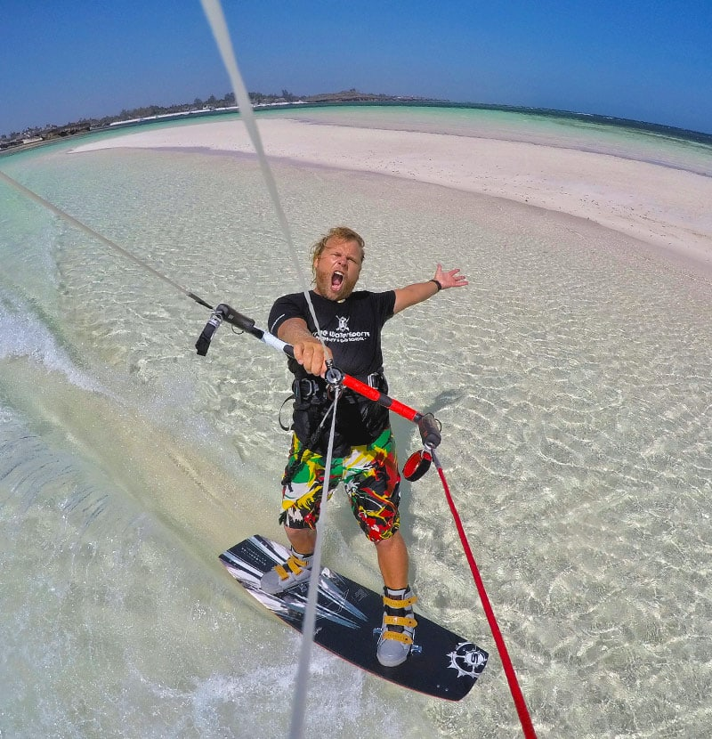 Tribe Watersports - Watamu Kenya - Kitesurfing - Wakeboarding - Stand Up Paddleboarding - Where should I go on a kitesurfing holiday from December till March - coaching