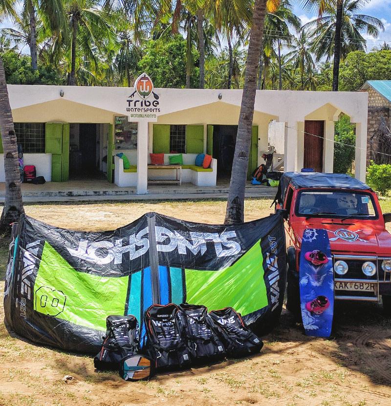 Tribe Watersports - Watamu Kenya - Kitesurfing - Wakeboarding - Stand Up Paddleboarding - Kitesurfing - equipment rental